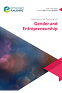 The International Journal of Gender and Entrepreneurship -  women's rights conferences 2020 Singapore